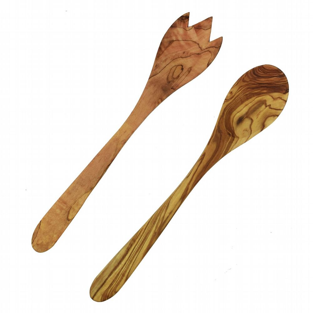 Rustic Olive Wood - Salad Servers